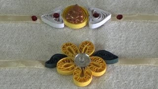 Rakhi Making at Home~Paper Quilling Rakhi~Simple Steps