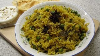 Green Peas Pulao / Indian lunch dinner recipes/ Recipes by Poonam