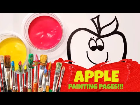 Coloring For Toddler Videos! Spiderman Painting a Cute Apple for Toddlers!