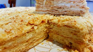 Торт наполеон  рецепт  слоеного теста