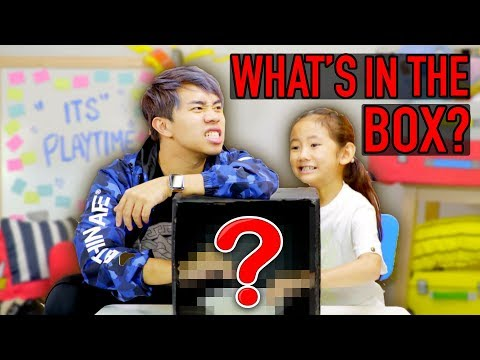 Kid VS Adult: What's In The Box Challenge!