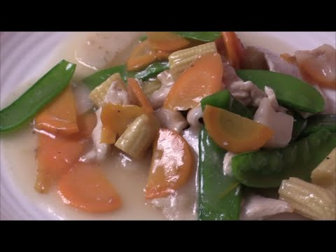 Chicken WIth Vegetables In White SAuce- Wheat And Gluten Free