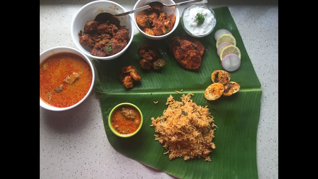 south indian non veg meal south indian non veg feast