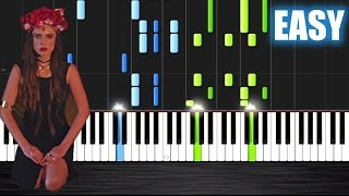 Major Lazer - Lean On - EASY Piano Tutorial by PlutaX - Synthesia