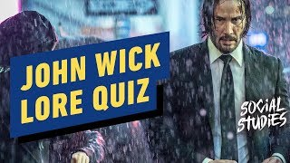 John Wick Lore Quiz, Loser Gets SHOCKED - Social Studies