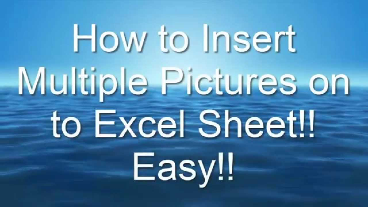 insert multiple page pdf into excel