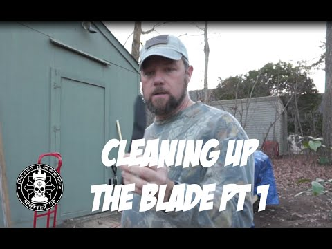 Cleaning Up the Knife Blade Part 1
