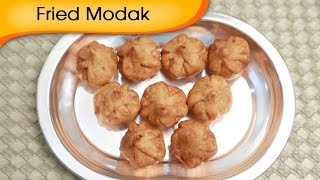 Fried Modak - Sweet Coconut Dumpling - Ganesh Festival Special Recipe By Ruchi Bharani [HD]