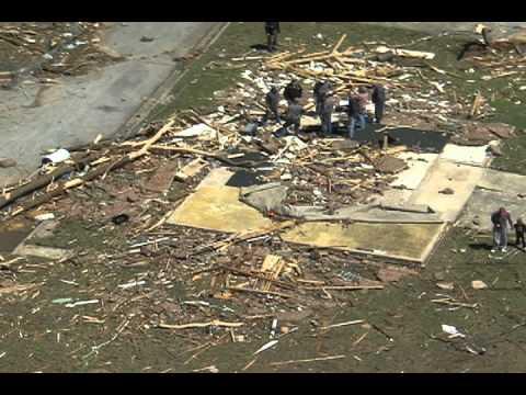 Hackleburg Tornado Damage Aerials Part 1