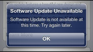 "iOS 7 ""Software Update Unavailable"" 