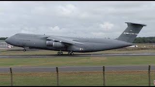 PRESIDENT TRUMP'S VISIT TO THE UK - C-5 GALAXY AIR FORCE ONE SUPPORT - Glasgow Prestwick, Scotland