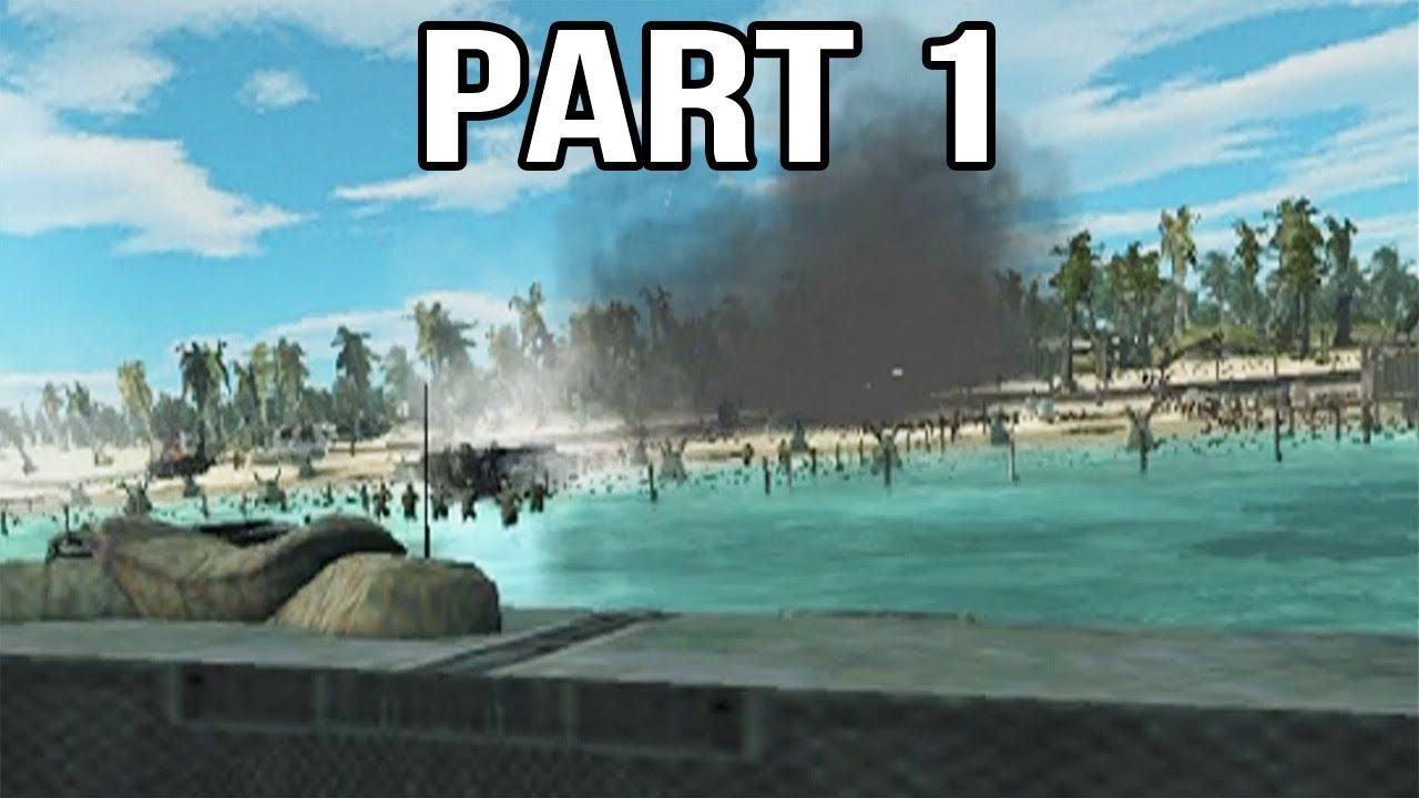 Call of Duty World at War Final Fronts Gameplay Walkthrough Part 1 - Betio Assault