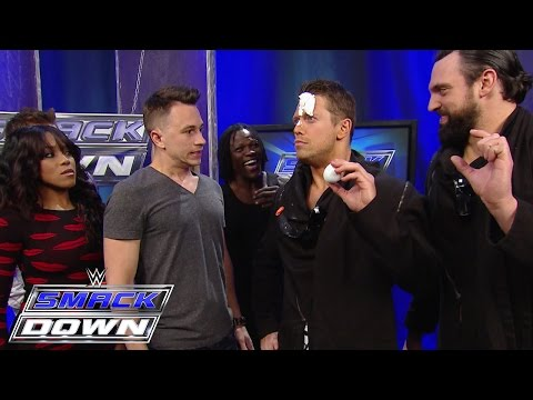 """Superstars watch Justin Flom from """"Wizard Wars"""" get tricking backstage: SmackDown, January 29, 2015"""