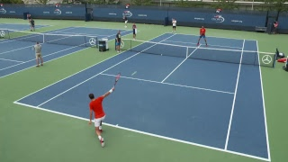LIVE US Open Tennis 2017: Juan Martin del Potro and Grigor Dimitrov Practice