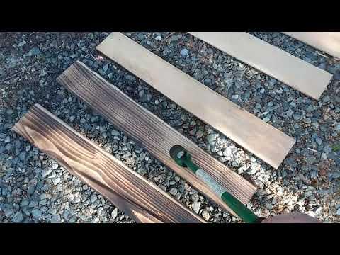 Cedar Barn Door - Charred Wood Detail