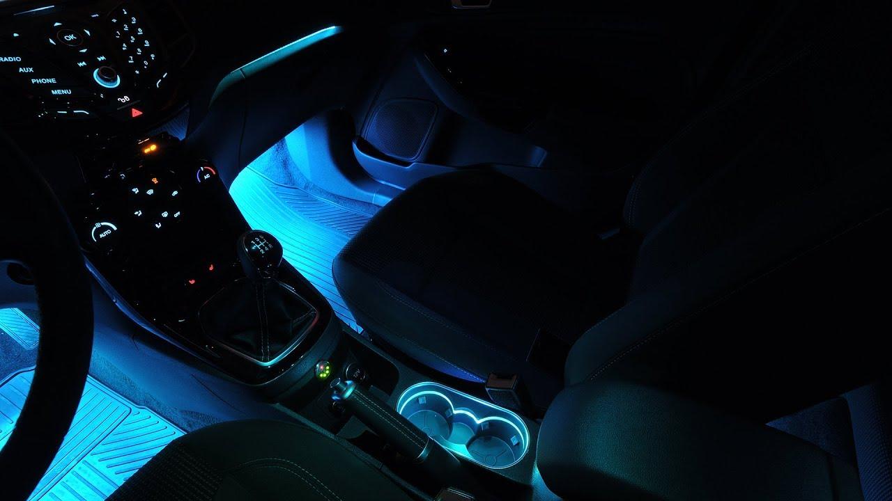 Ford Fiesta Multicolor Led Interior Mood Lights Mod Youtube