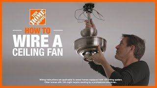 How To Wire A Ceiling Fan Lighting And Ceiling Fans The Home Depot Youtube