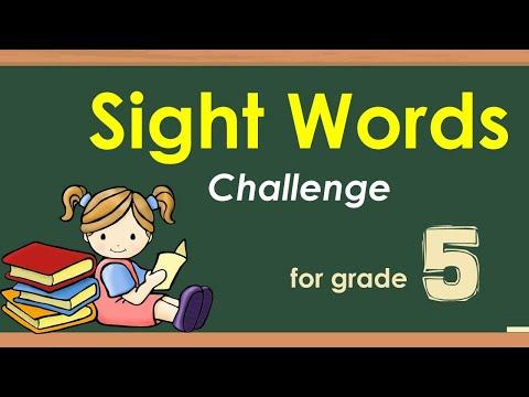 Sight Words For Grade 5 With Teacher Calai