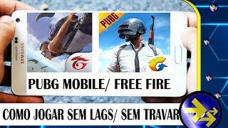 Free Fire/PUBG MOBILE, como jogar SEM LAGS ou TRAVAMENTOS em qualquer celular Android