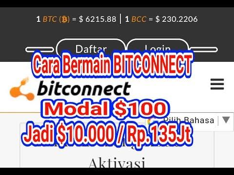 CARA INVEST/LENDING BITCONNECT MODAL $100 PROFIT $10.000