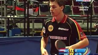 Repeat youtube video Table Tennis - Attack (BOLL) Vs Defense (CHEN Weixing) LVXIV !