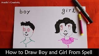 How to draw Boy and Girl From Spell | Figure From Spell |