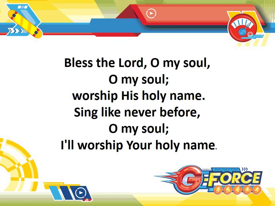 Lyric lyrics to bless the lord oh my soul : 10,000 Reasons -- VBS 2015 Lyric Video - YouTube