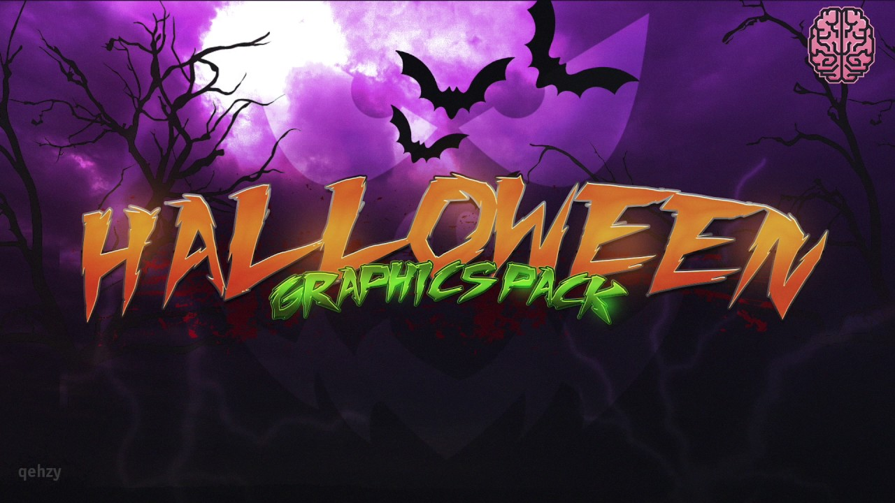 Halloween Graphics Pack by Qehzy #spooky - YouTube