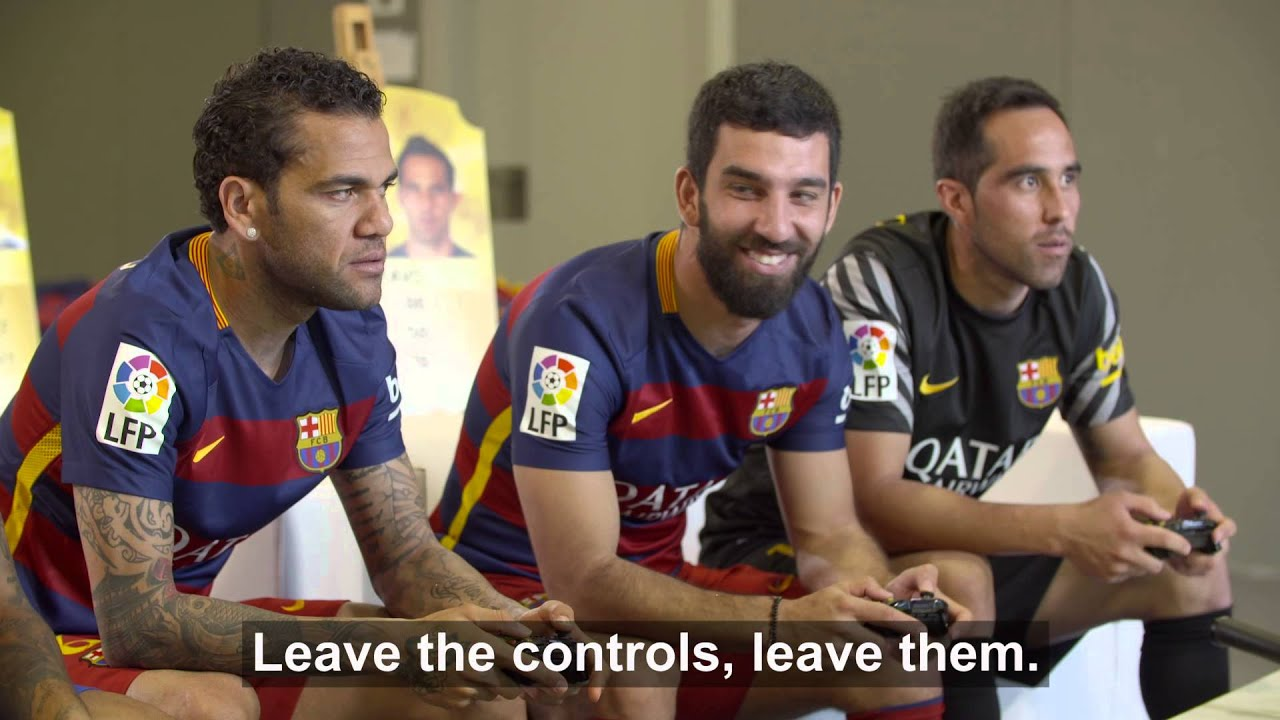 3f1a1d1ae BEHIND THE SCENES - FC Barcelona players enjoy themselves with FIFA ...