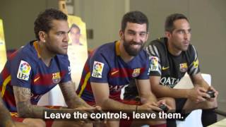 BEHIND THE SCENES - FC Barcelona players enjoy themselves with FIFA 16(The FC Barcelona players may get to enjoy the real thing on a weekly basis, but that doesn't mean they don't also enjoy virtual footy too! And the third edition of ..., 2015-11-19T19:57:57.000Z)