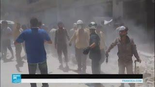 غارات جوية جديدة على مدينة أريحا السورية