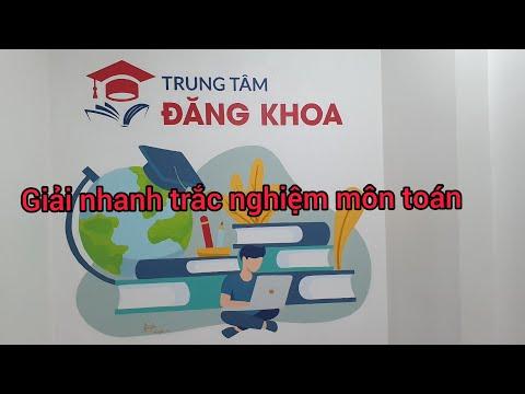 Giải nhanh trắc nghiệm đề thi môn toán tuyển sinh 10 vào trường chuyên Huỳnh Mẫn Đạt . Cô Mẫn