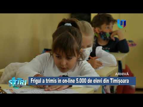 TeleU: Frigul a trimis în on-line 5.000 de elevi din Timișoara