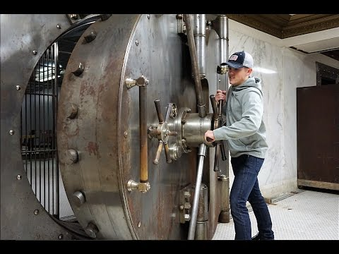 Exploring 100 Year Old Bank Vault