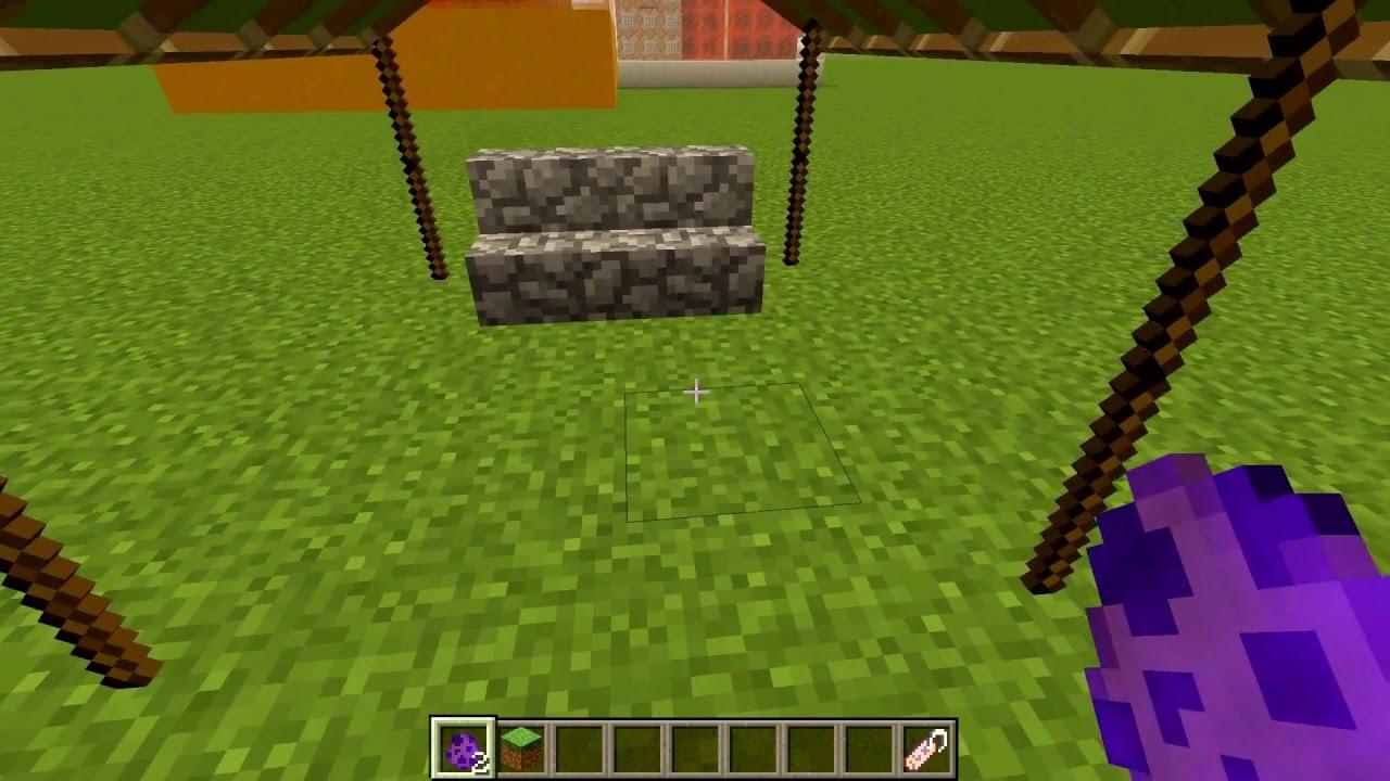 Gartenmobel In Minecraft Mit Nur Einem Commandblock