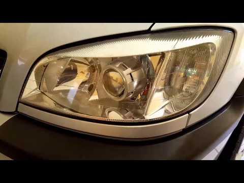 Chevrolet Zafira Allchrome Projetor 25 Xenon 55w Youtube
