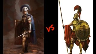 Spartans VS Roman Legionnaire - Training and Equipment - History That Changed the World - 002(The Roman legionary was a professional heavy infantryman of the Roman army after the Marian reforms. Legionaries had to be Roman citizens under the age of ..., 2016-09-11T22:08:16.000Z)