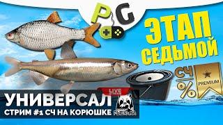 Русская Рыбалка 4 Стрим Прокачка УНИВЕРСАЛА для 7 го этапа Стрим 1 Ловим живцов на Ладоге