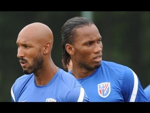 Drogba and Anelka star show lights up China