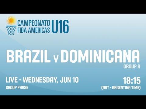 Brazil v Dominican Republic - Group A - 2015 FIBA Americas U16 Championship