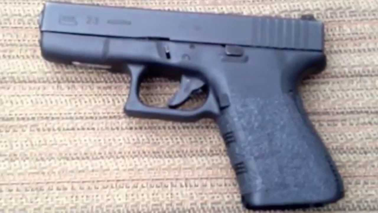 Glock 23 Talon Granulated Rubber Grips Review Youtube