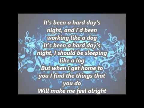 "Copy of The Beatles - ""A Hard Days Night"" with Lyrics"