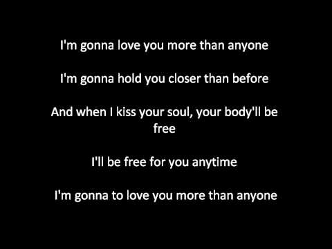 Gavin DeGraw - More than anyone lyrics