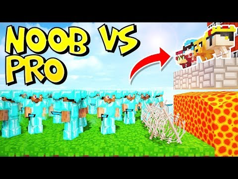 RETO DE LA BASE DE YOUTUBERS NOOB VS 100 PRO'S EN MINECRAFT