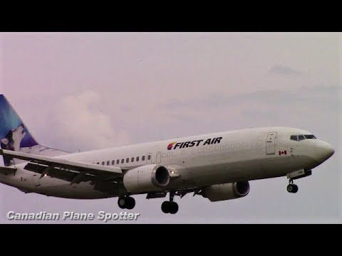 First Air 737-400 (combi) in Action at Ottawa Int'l Airport