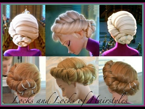 Elsa S Hairstyle From Frozen Youtube