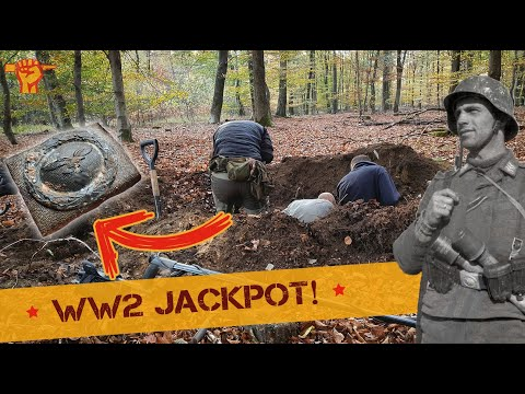 Uncovering Luftwaffe treasures in a BIG hole!