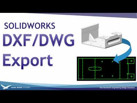 SOLIDWORKS: DXF DWG