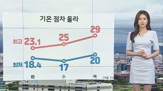 [날씨] 오전까지 영동 강한 비…오늘보다 기온 더 올라 / 연합뉴스TV (YonhapnewsTV)