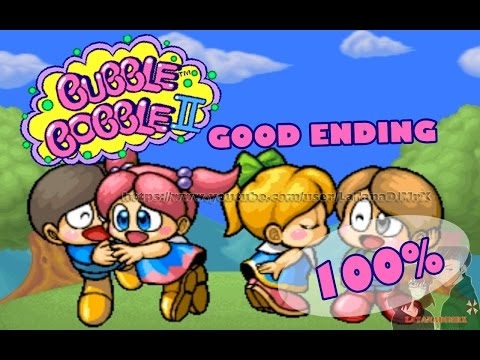 Bubble Bobble II Symphony () GOOD ENDING 100% Arcade 1994 [ HD ]